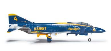 "US Navy McDonnell Douglas F-4J Phantom II ""Blue Angels"" No. 4 Slot positionwave"